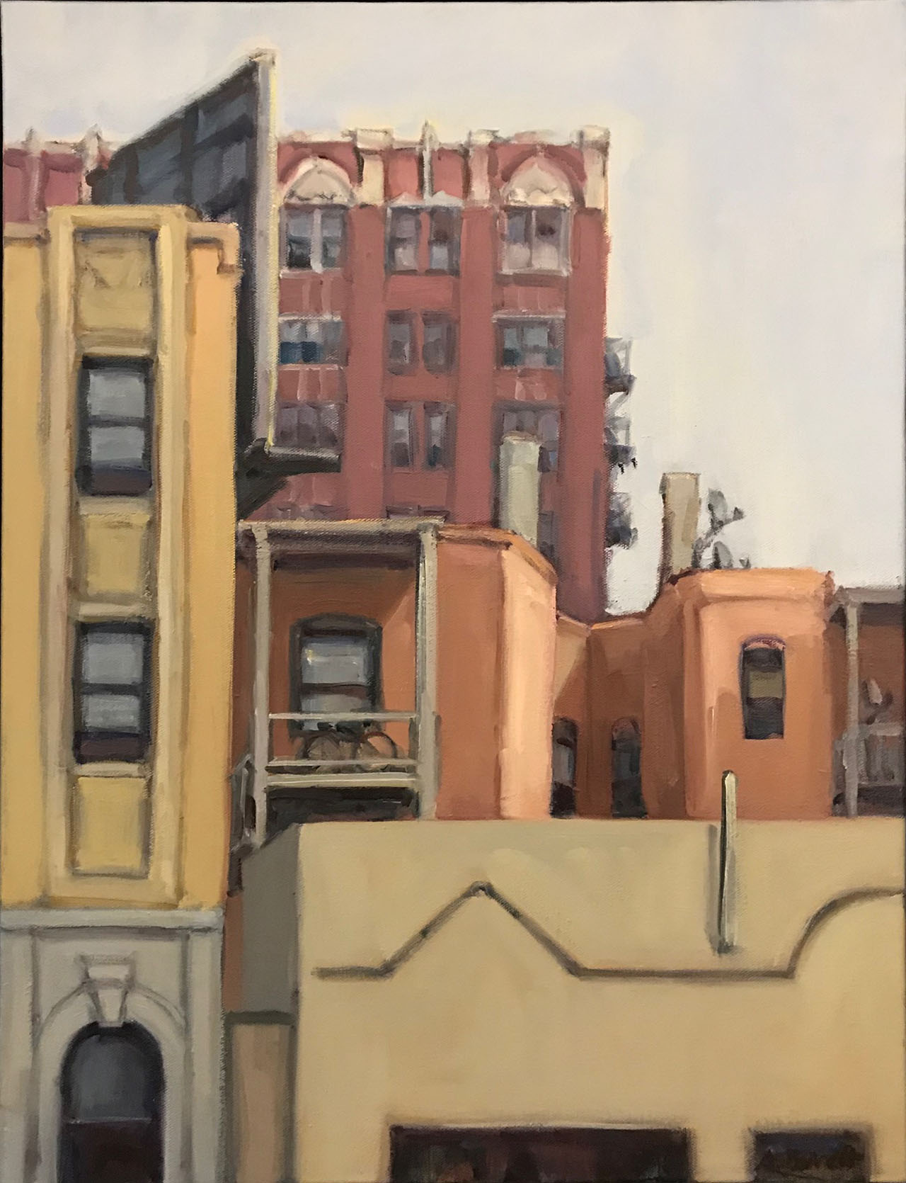 Uptown North Broadway, oil on canvas, 24x18 IN