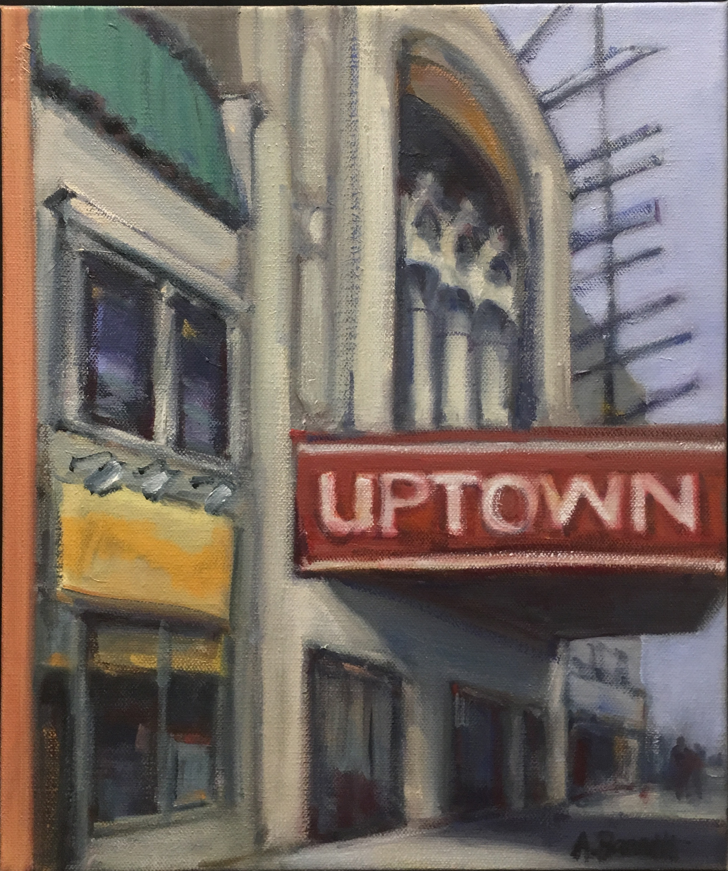 Uptown Theater, oil on canvas, 14x11 IN,