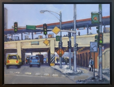 Rogers Park/ Loyola, oil on canvas, 18 x 24 IN