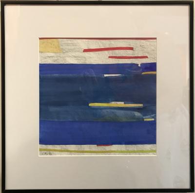 FLAG VI, gouache & pencil on paper, 12 x 12 in