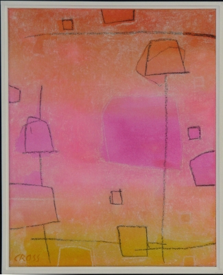 PAPER LANTERN VI, acrylic and mixed media on canvas, 20 x 16 in
