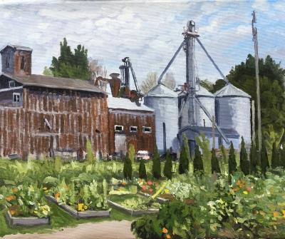 Seifert, Three Oaks, plein air oil on canvas