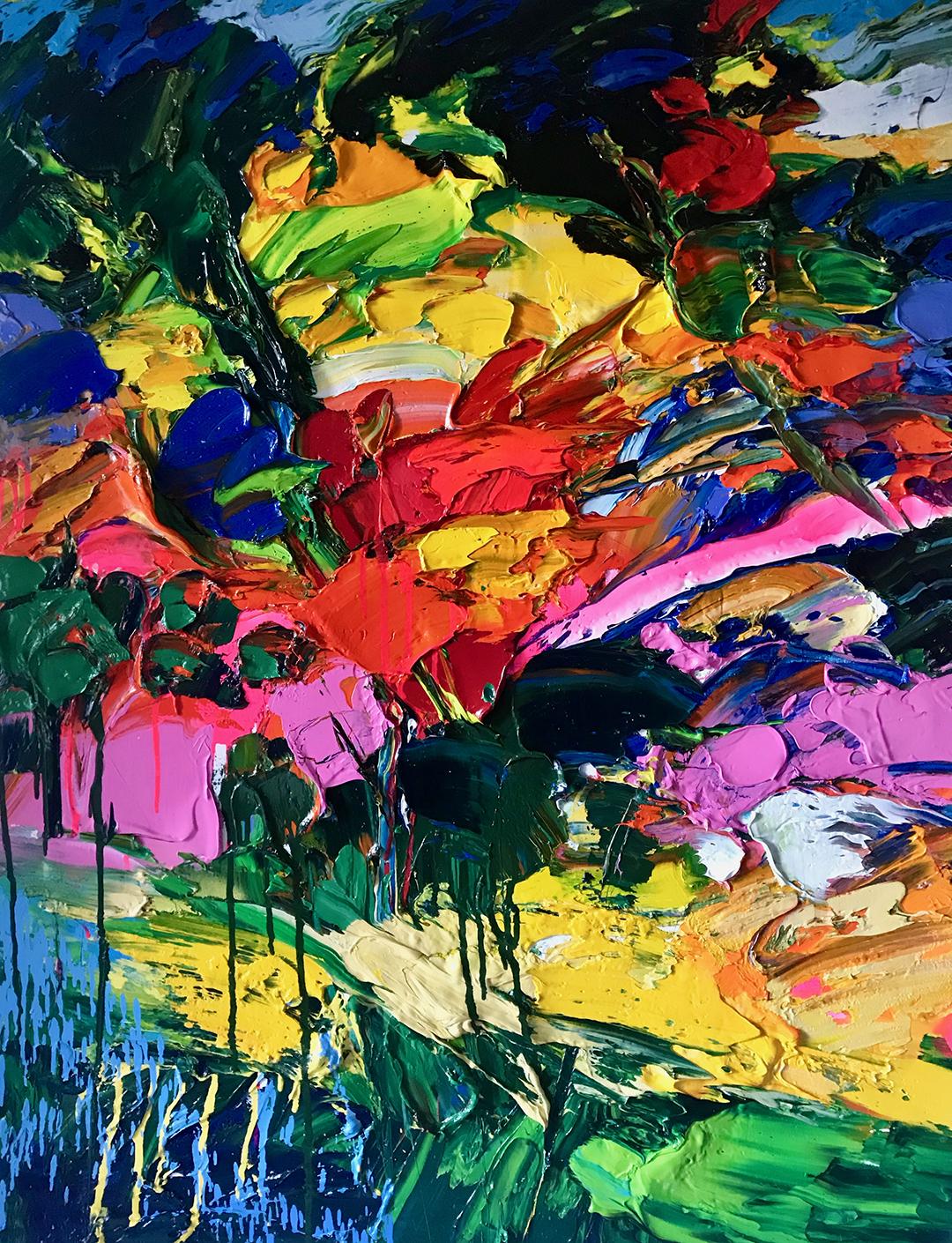 """Aurore Automnale"" Oil on canvas 116x89 cm"