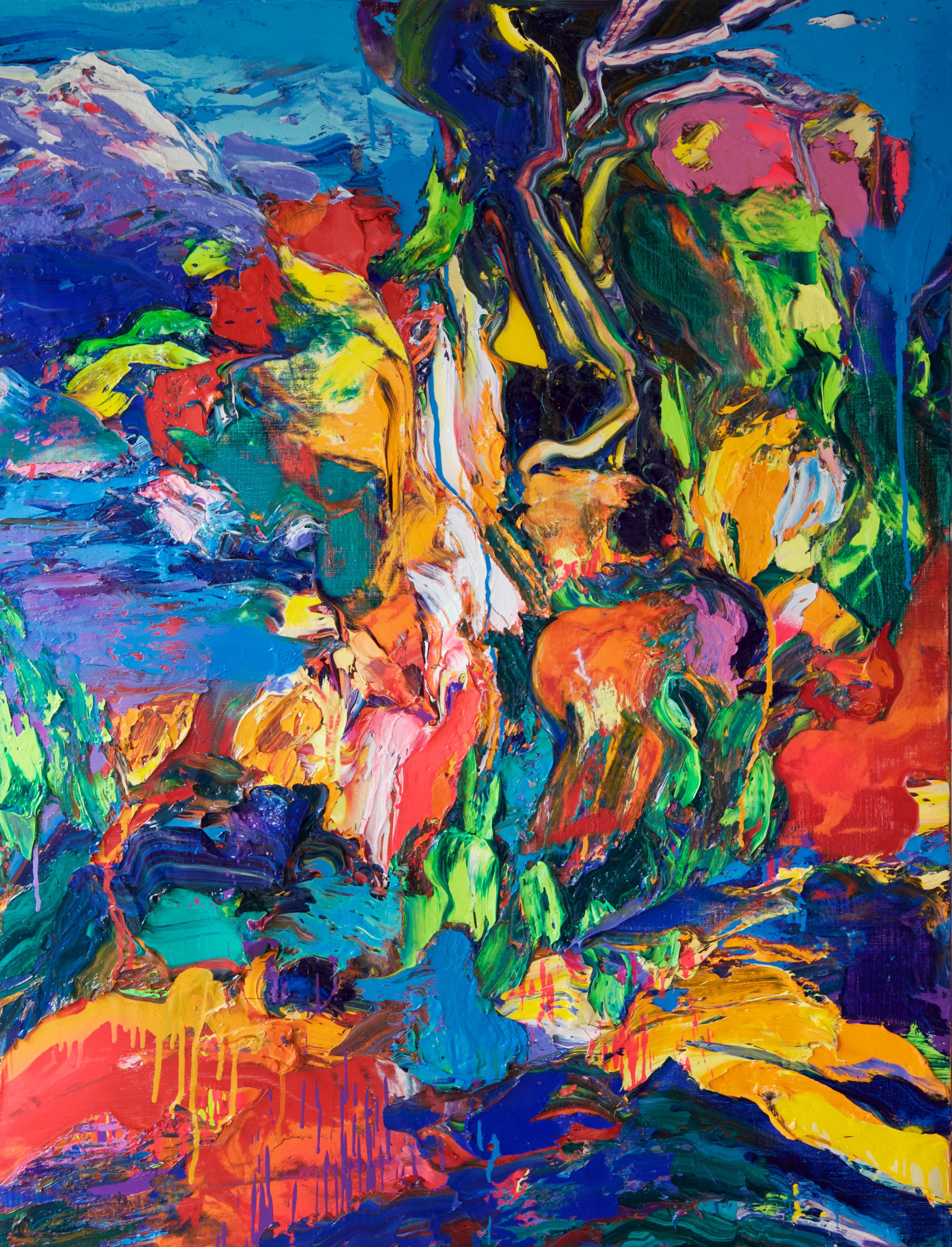 """""""Le Roi des Aulnes"""" Oil on canvas 130x97 cm"""
