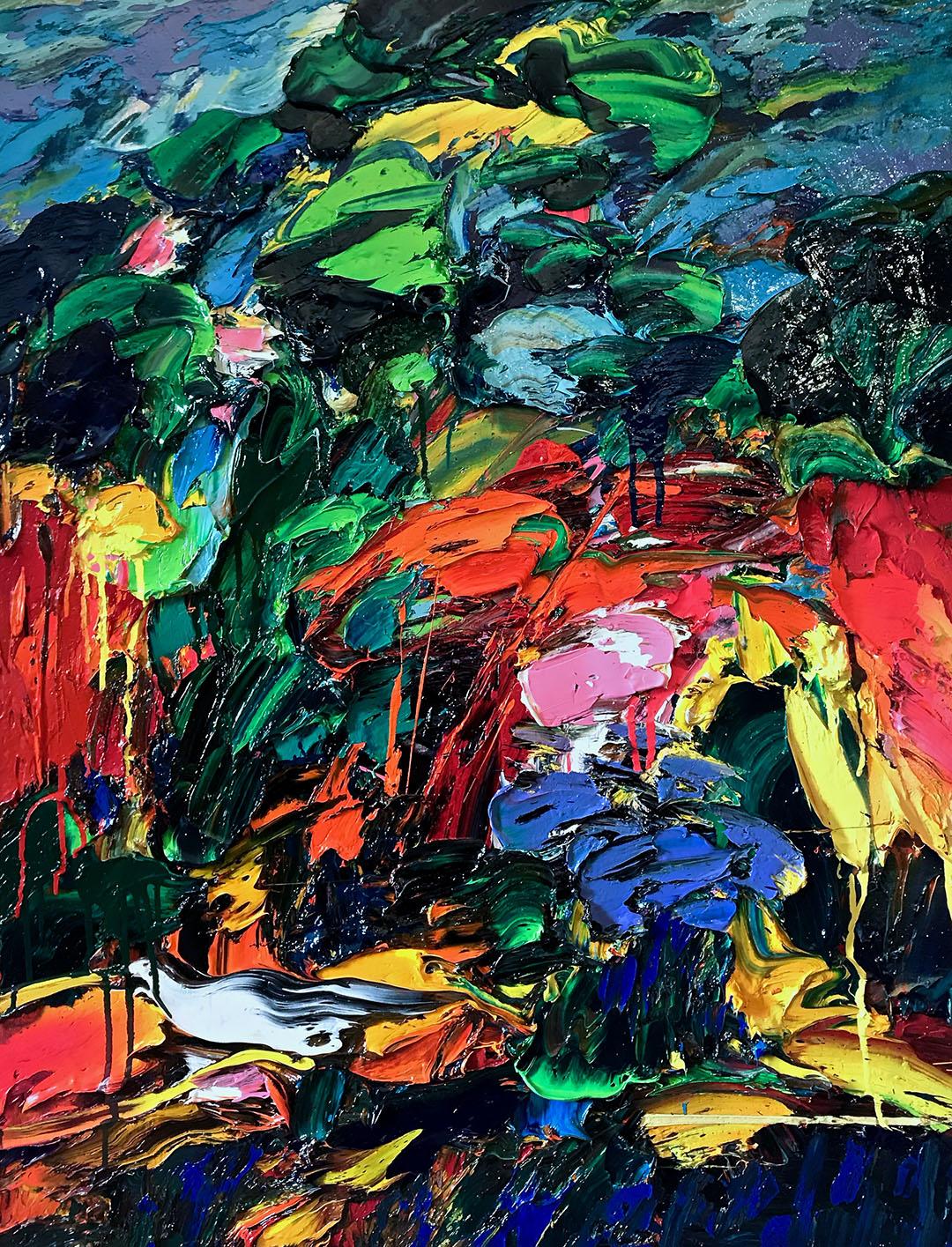 """""""Les Hauts du Cannet"""" Oil on canvas 116x89 cm"""