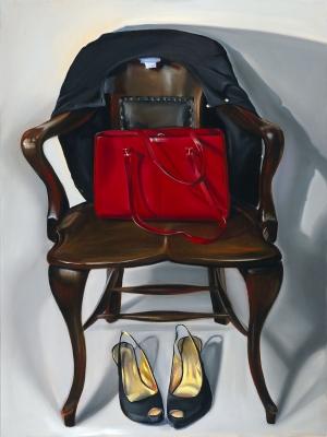 SITTING PRETTY, oil on canvas, 40 x 30 IN