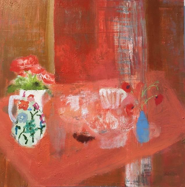 CECELIA VASE, oil on canvas, 24 x 24 inches