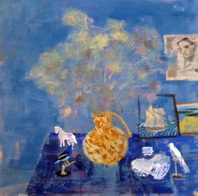"STILL LIFE, oil on canvas, 48""x48"""