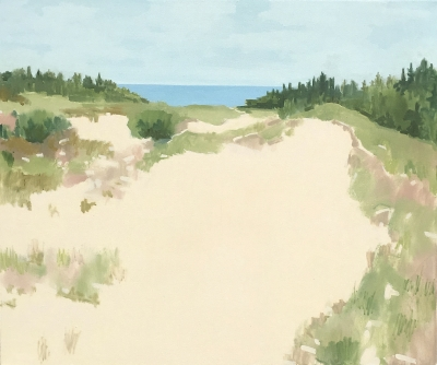 DUNE, oil on canvas, 40 x 48 inches
