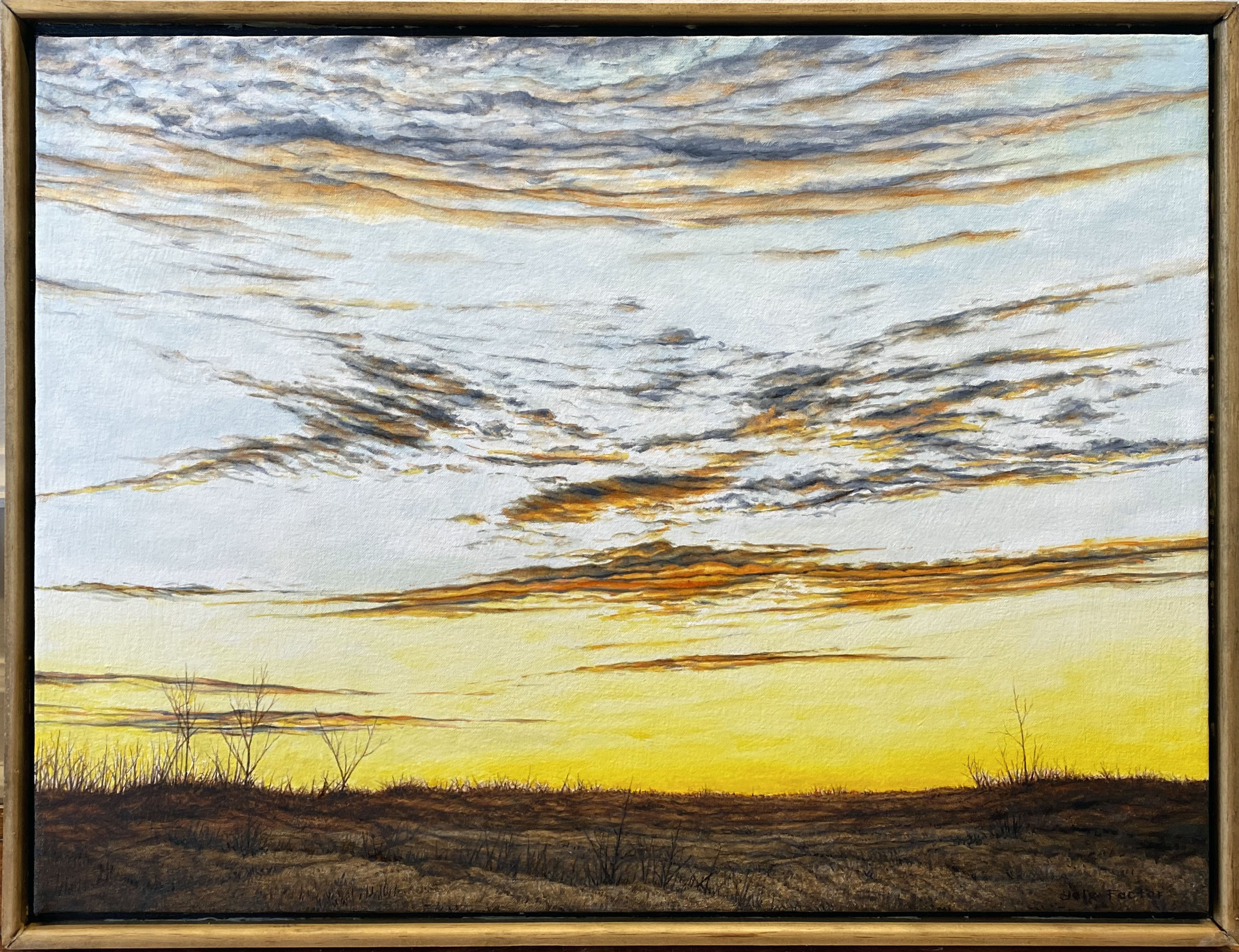 SUNSET,  oil on canvas, 18 x 24 in