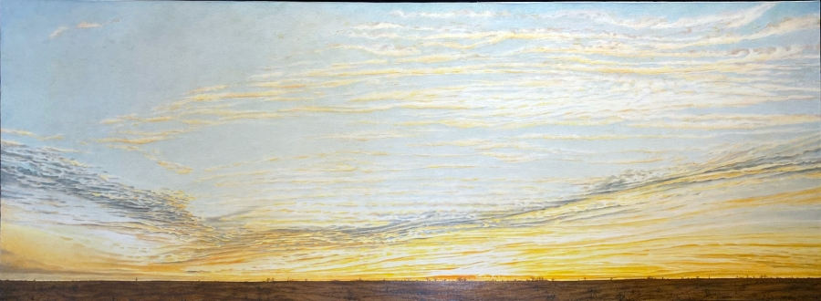 MIDWEST #2, oil on canvas, 24 x 67 in