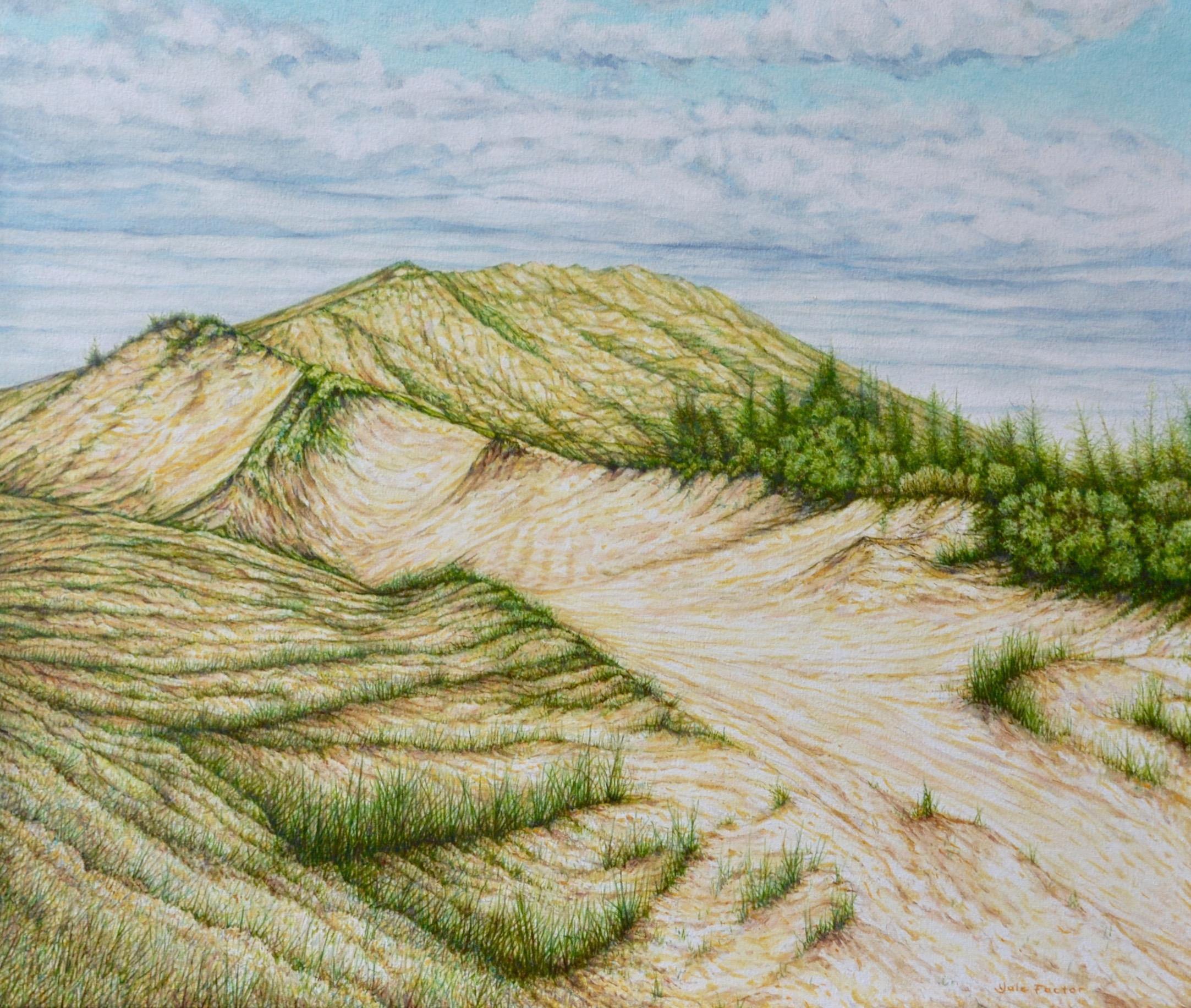 SLEEPING BEAR DUNES,  oil on canvas, 22x26 in