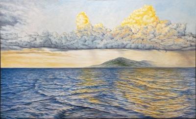 LEEWARDS ISLANDS, oil on canvas, 36 x 60 in