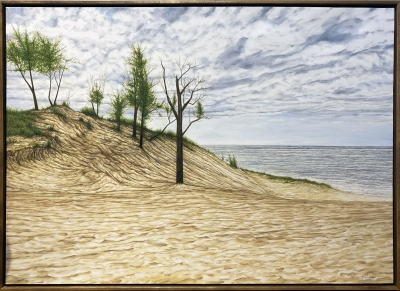 WARREN DUNES, oil on canvas, 29 x 41 in