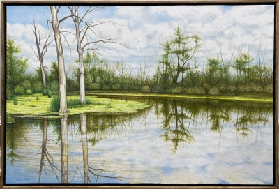 GALIEN RIVER, oil on canvas, 24 x 36 in