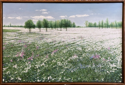 FIELD OF PLENTY, oil on canvas, 24 x 36 in